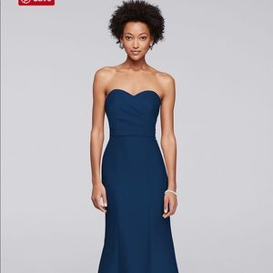 Structured Mikado Strapless Long Bridesmaid Dress